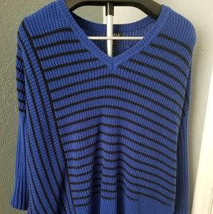 Blue Striped Long Sleeve Sweater🍭M🍭Never Worn